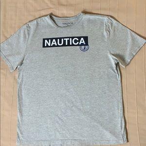Nautica Gray T-shirt Sz XL